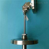 高精度工业法兰式双金属温度计