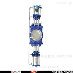 VTPZ973H-10P双刀双掷插板阀 塑料粒子工况应用双刀阀