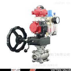 VATTEN高平台螺纹排气阀 三片式气动螺纹球阀
