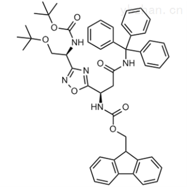 (9H-Fluoren-9-yl)methyl ((R)-1-(3-((S)-2-(tert-butoxy)-1-((tert-butoxycarbonyl)amino)ethyl)-1,2,4...