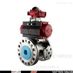 VATTEN气动保温球阀不锈钢 气动工业保温切断阀