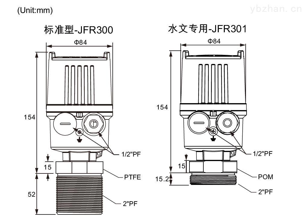 JFR3阵列雷达波液位计尺寸.jpg