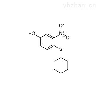4-(Cyclohexylthio)-3-nitrophenol