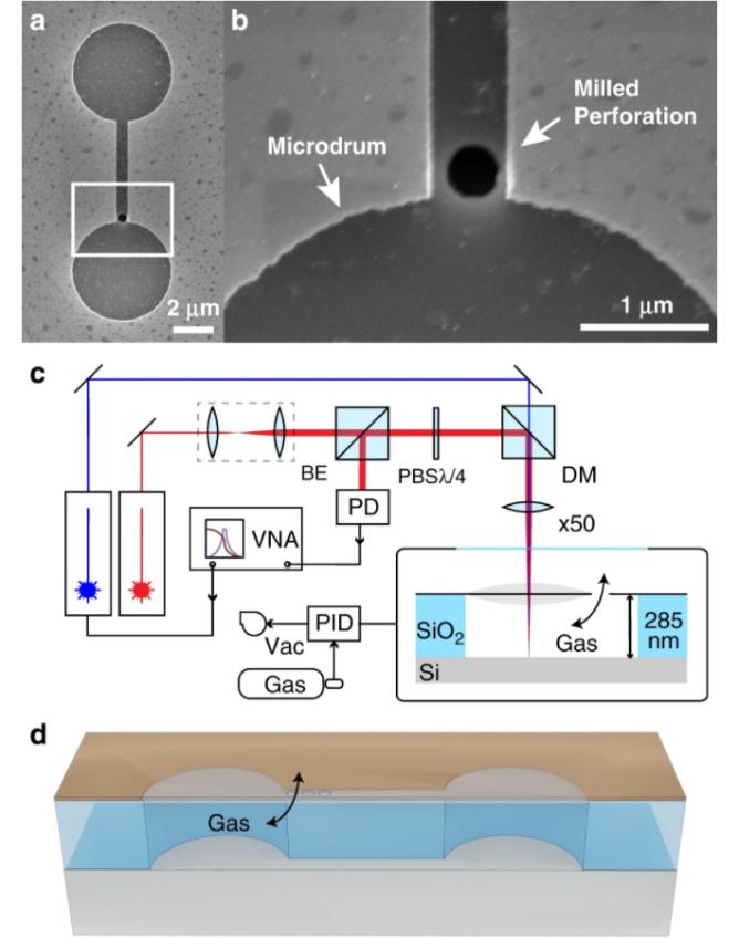 科學家通過石墨烯制成惰性氣體傳感器