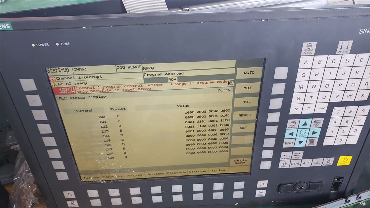 西门子840D数控机床报警810004故障维修-当天检测维修