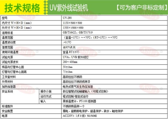 紫外线老化试验机配电图技术规格